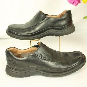 MENS Clarks Square Toe Slip-on Loafer Sz 8.5 M